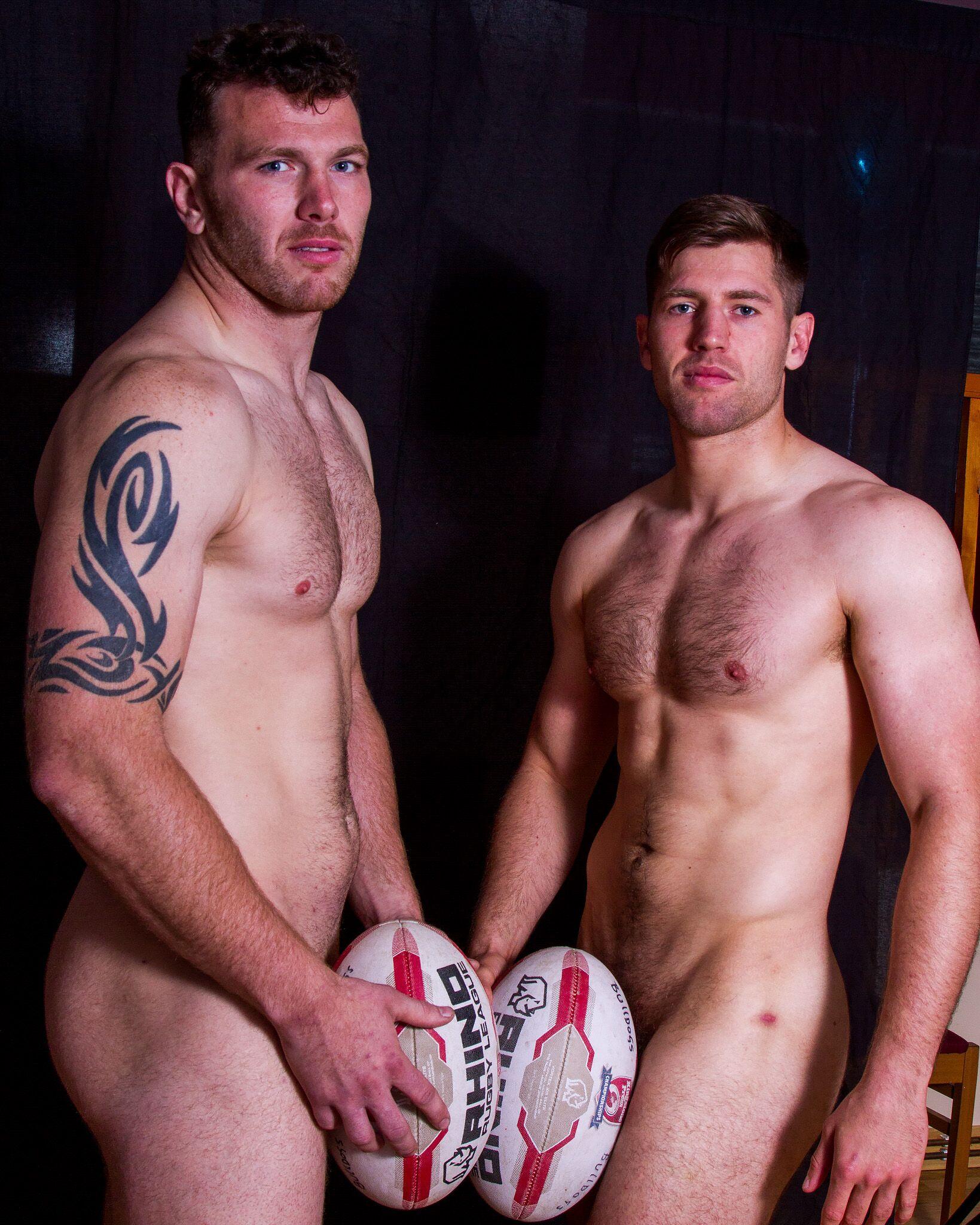 Nude professional sportsmen