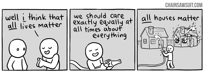 """Next time someone tells you """"all lives matter,"""" show them this cartoon"""