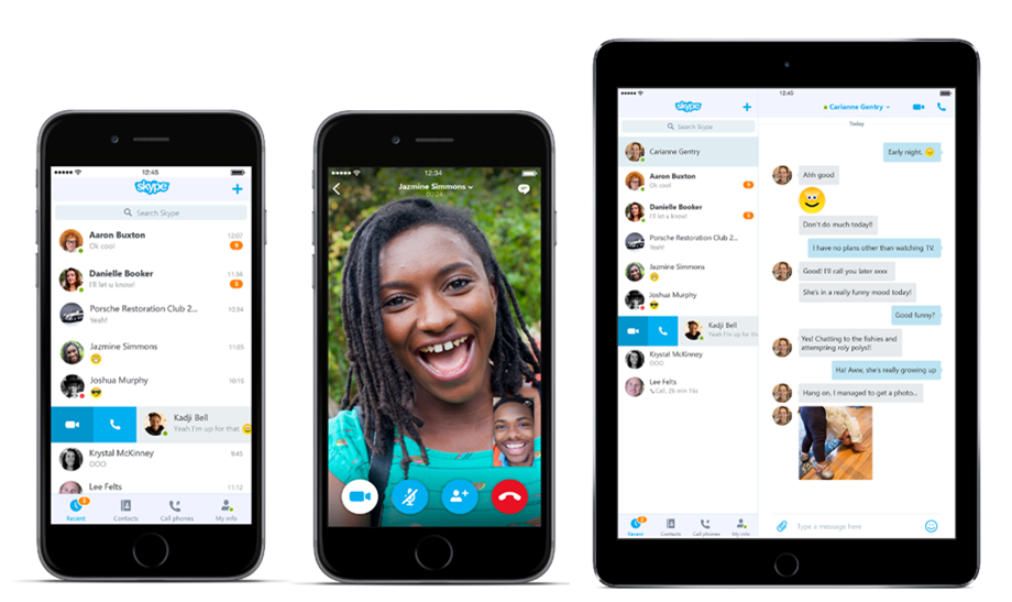 skype for ios and android drops windows phone like design the verge