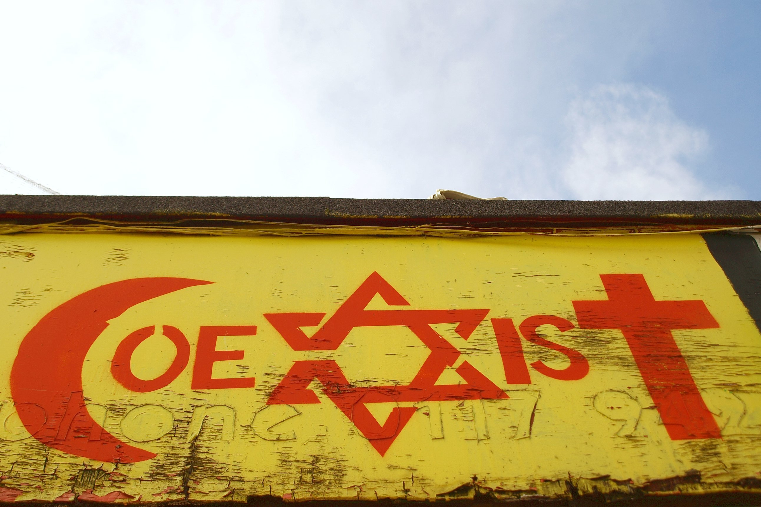 Coexist sign.