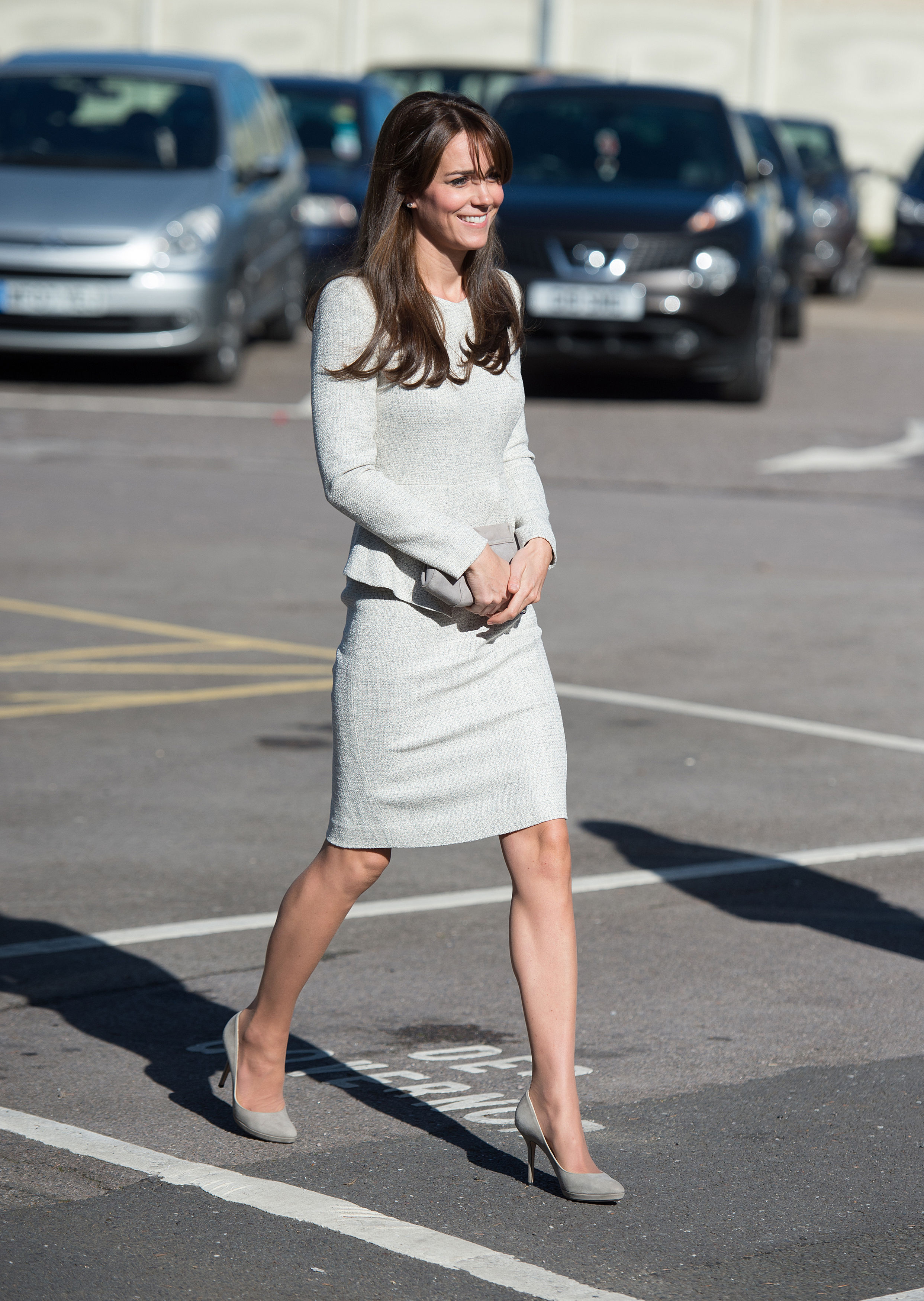 Kate Middleton's Prison-Visit Look Includes Pumps and a Clutch