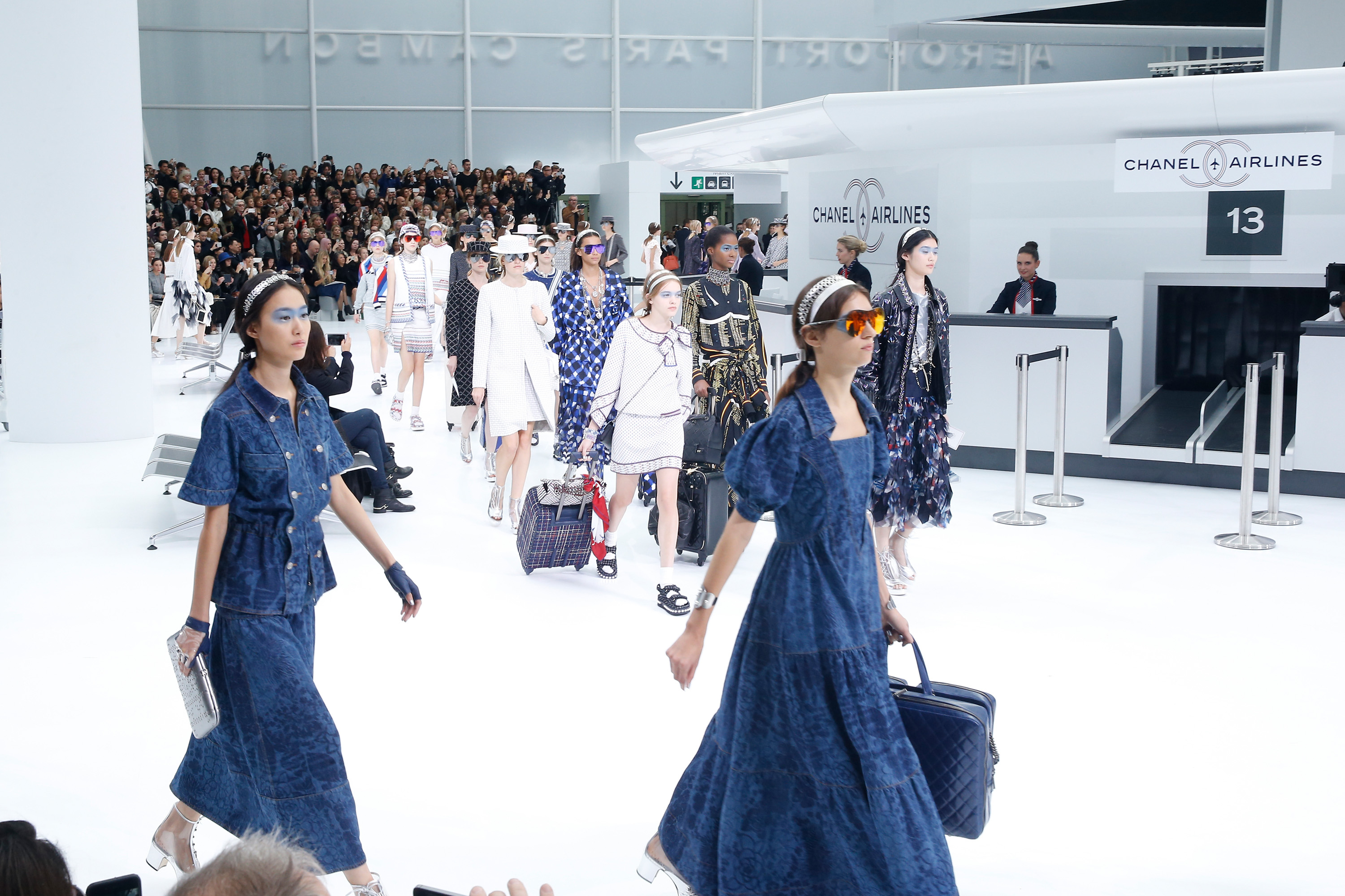 Karl Lagerfeld Gives Us Chanel Airlines', Creating An Actual Airport For His SS16 Show