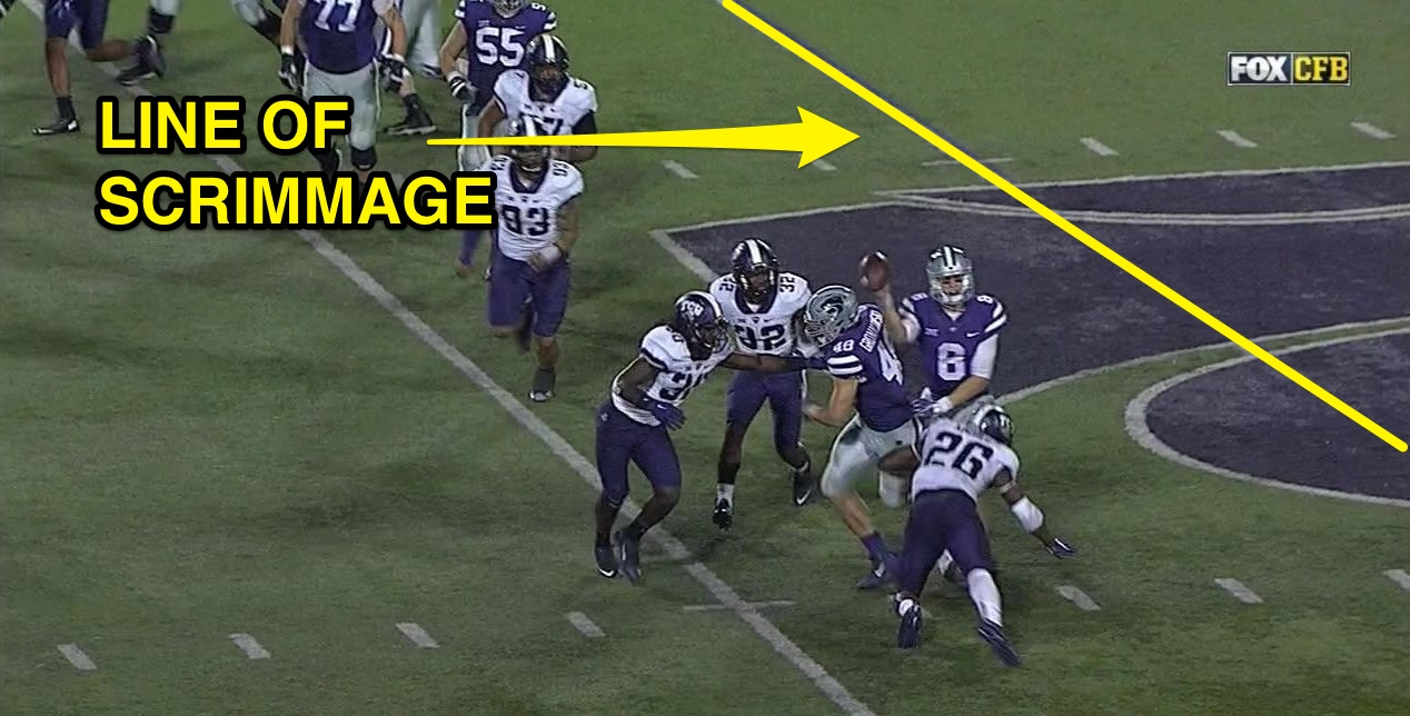 Big 12 refs OK with K-State throwing a pass a solid 10 feet past the line of scrimmage