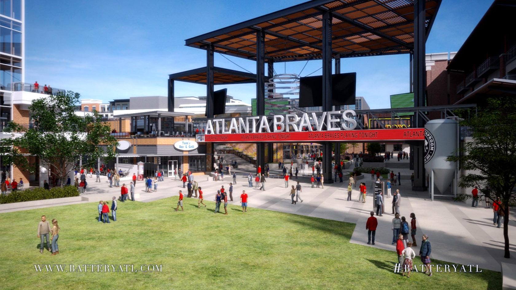 Battery Atlanta Map.Atlanta Braves Suntrust Park The Battery Renderings Eater Atlanta