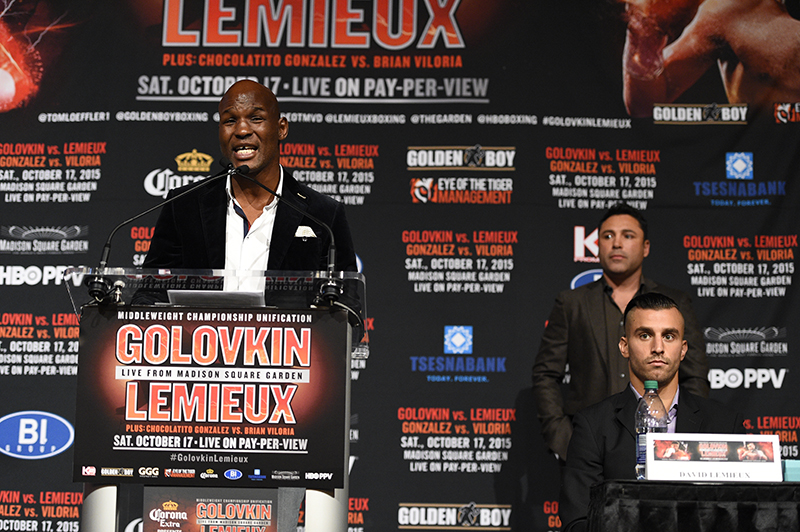 e02e6e6ac65007 Golovkin vs Lemieux  Final press conference quotes and photos - Bad ...