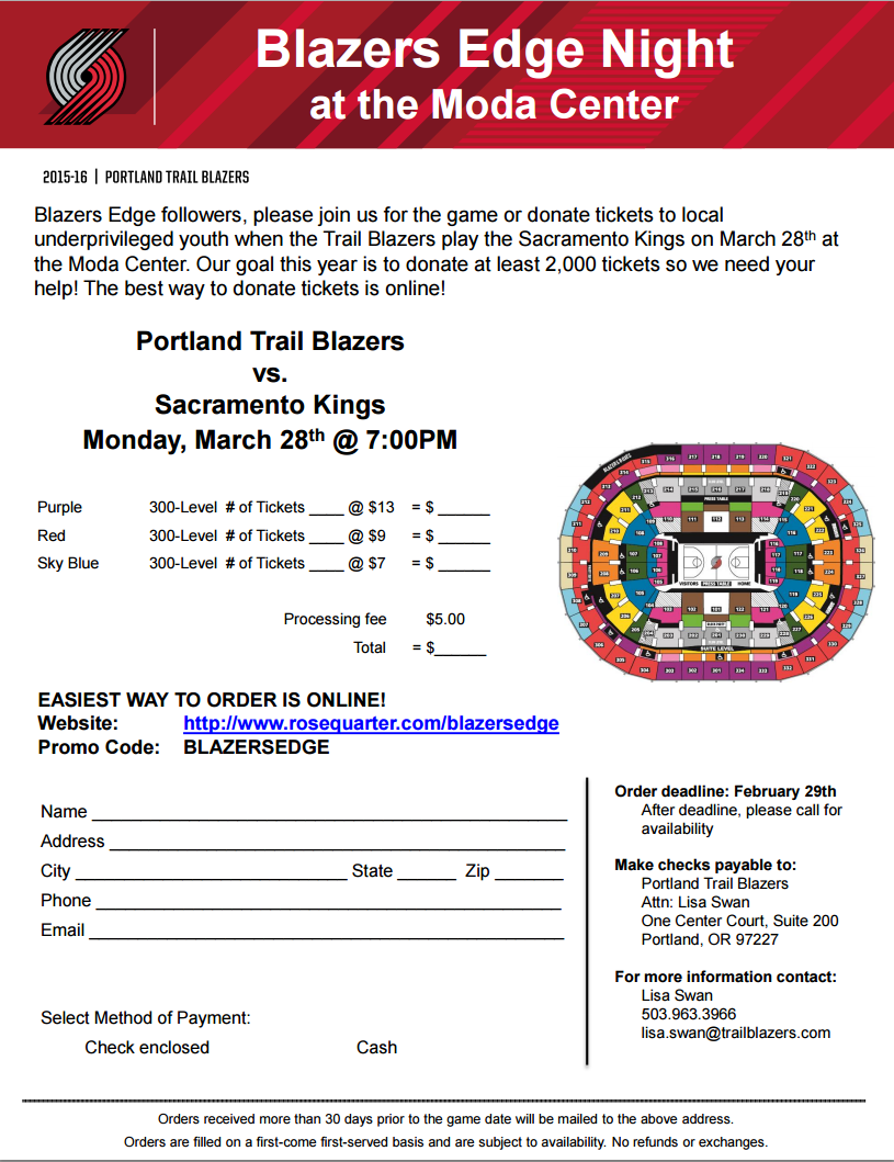 ticket pack promotion for portland trail Parking prices vary according to the event (prices typically range from $8 to $26 for events) parking prices are included on the detailed show information page located within the event calendar.