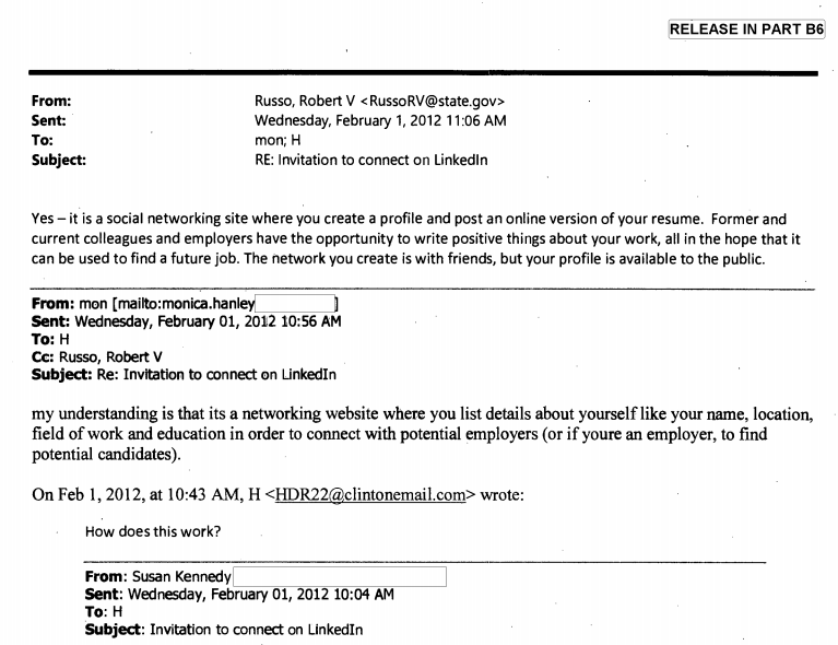 hillary clinton was just as confused by linkedin as the