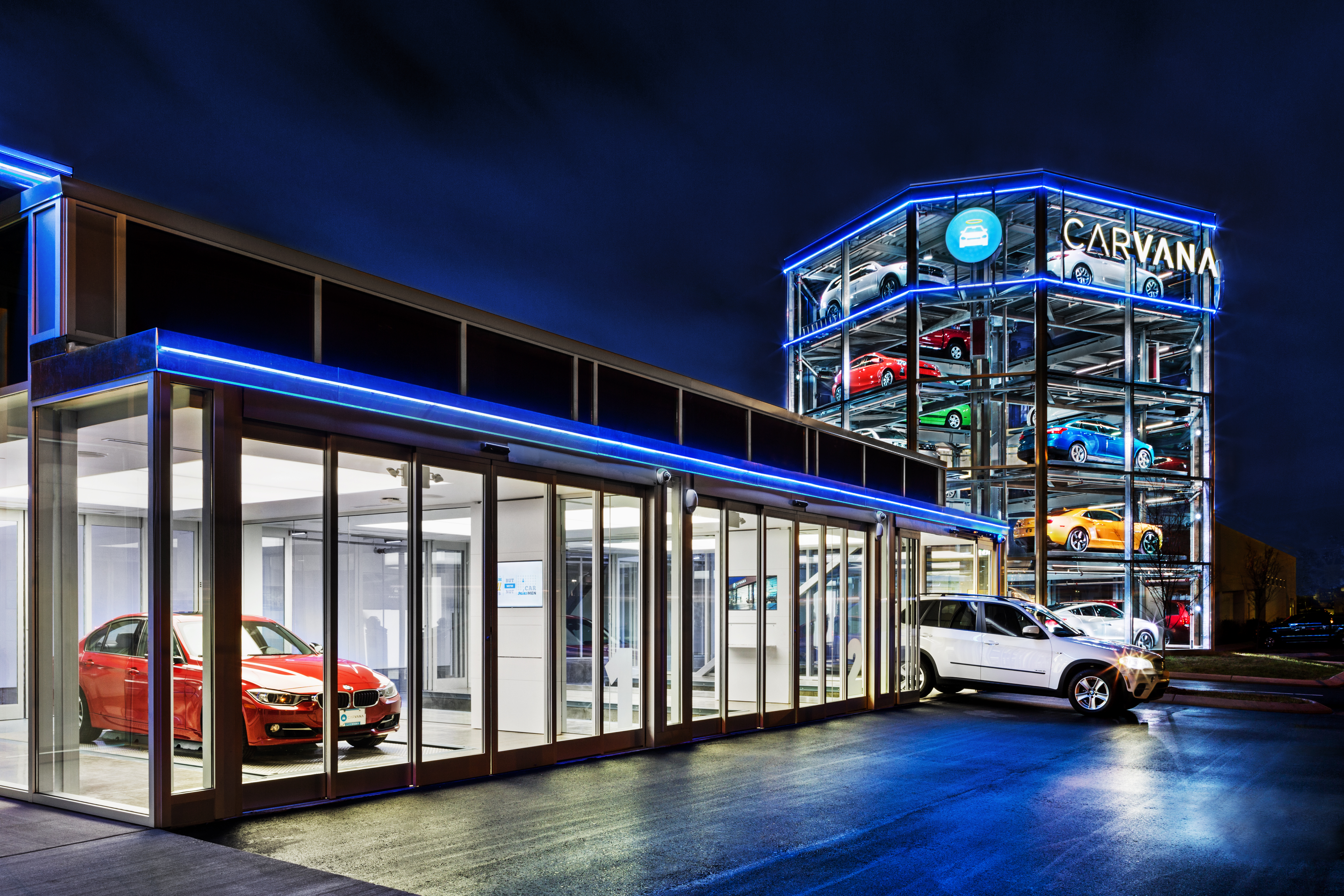 A five-story vending machine for cars just opened in