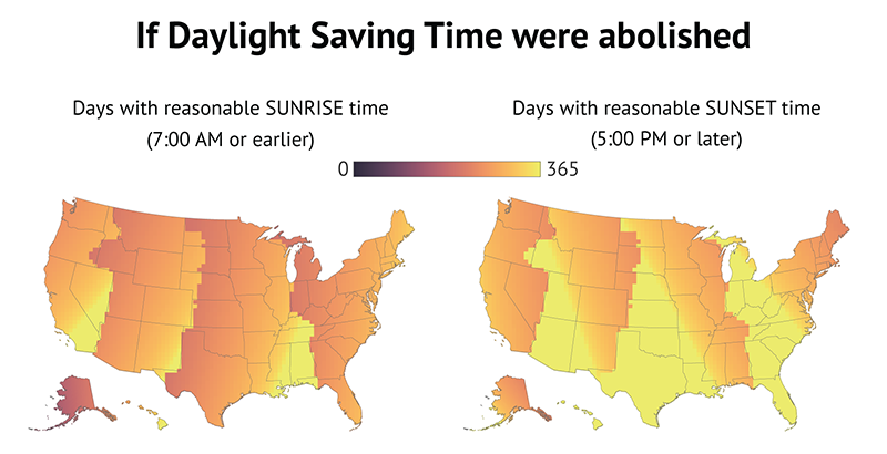 Daylight Saving Time Has Ended It Really Should Go On Forever Vox - Us daylight savings time map