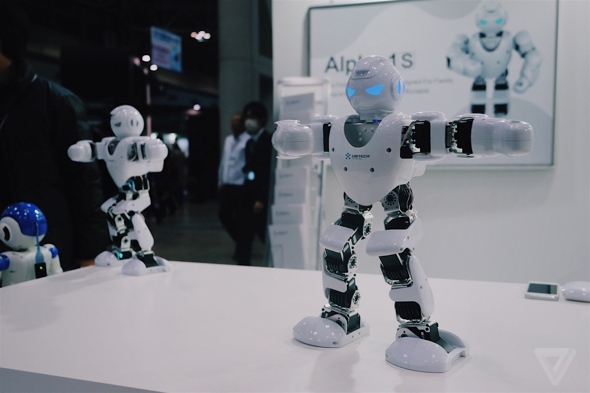 Meet The Japanese Robots That Do What Humans Cant Verge Ubtech Alpha 1s Humanoid Robot Ubtechs Has Some Pretty Slick Dance Moves It Delivers With An Aggressive And Possibly Evil Stare