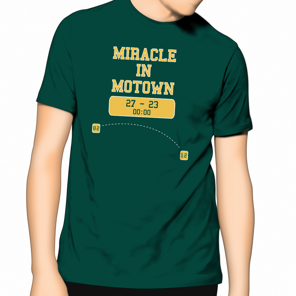New Apc T Shirt Miracle In Motown Celebrates Packers
