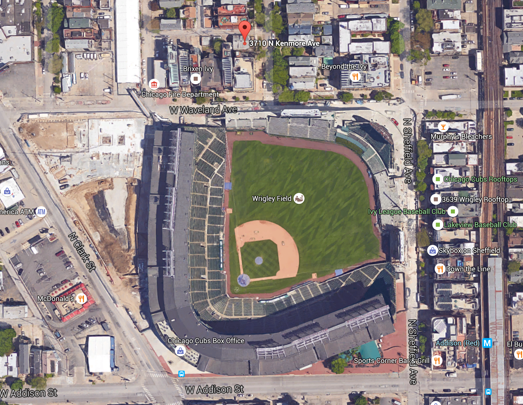 Seller Seeks Nearly M For House Near Wrigley Field Curbed Chicago - Chicago map showing wrigley field
