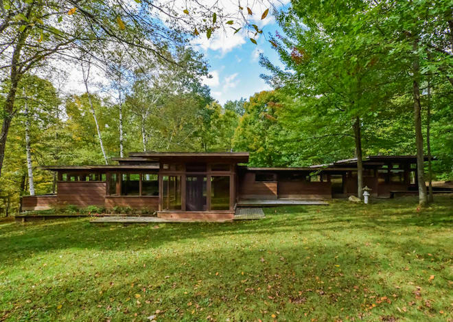 Stellar frank lloyd wright inspired michigan home asks for Usonian house plans for sale