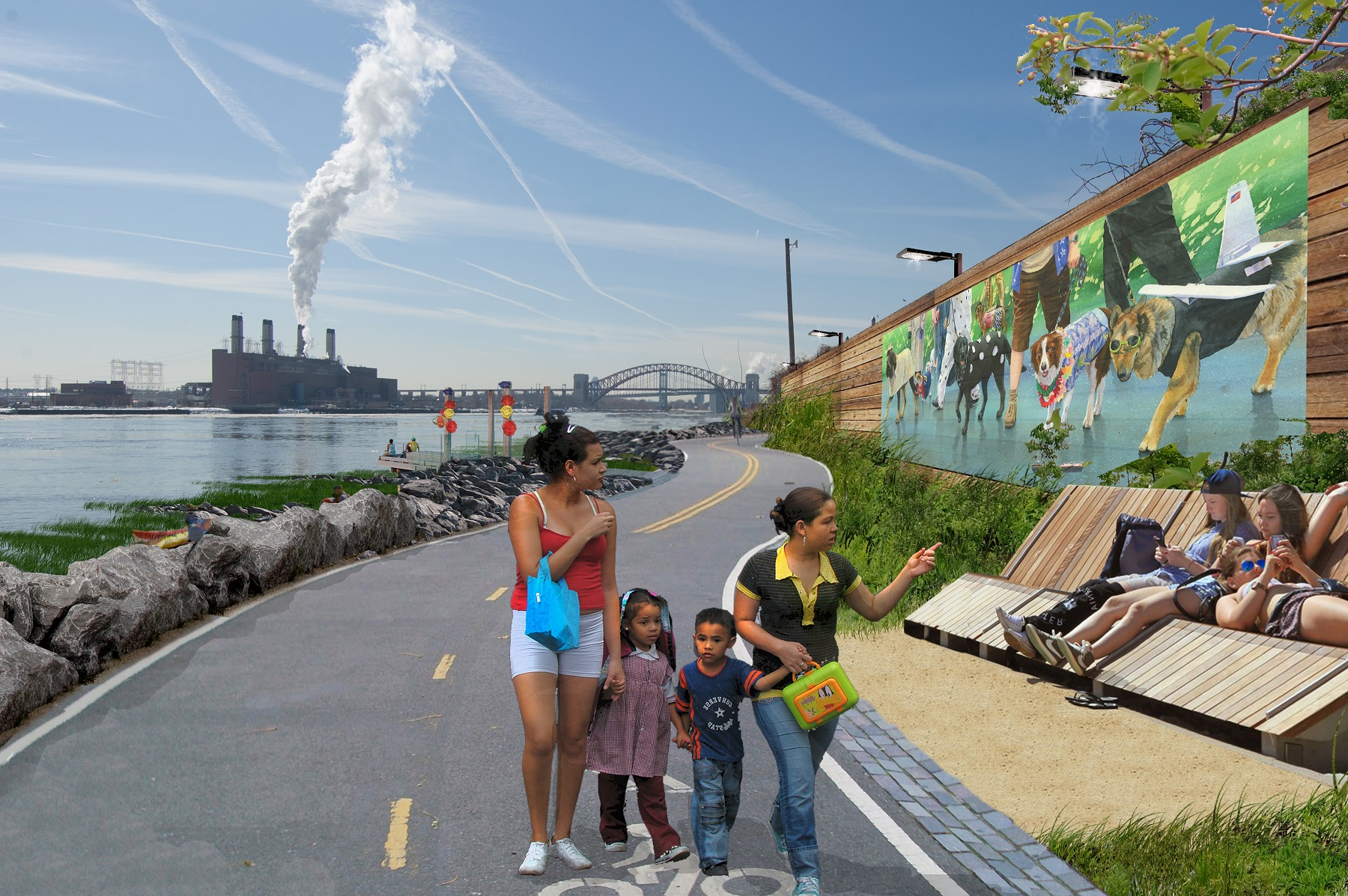 See The South Bronx Waterfront S Green Park Filled Future