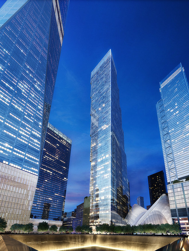 The final world trade center tower 39 s new design revealed for 2 world trade center