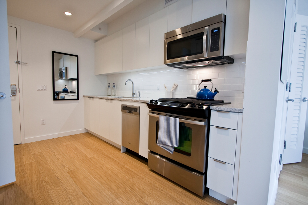 Empty Studio Apartments. Inside the New West Side Rentals Sheathed by an Exoskeleton