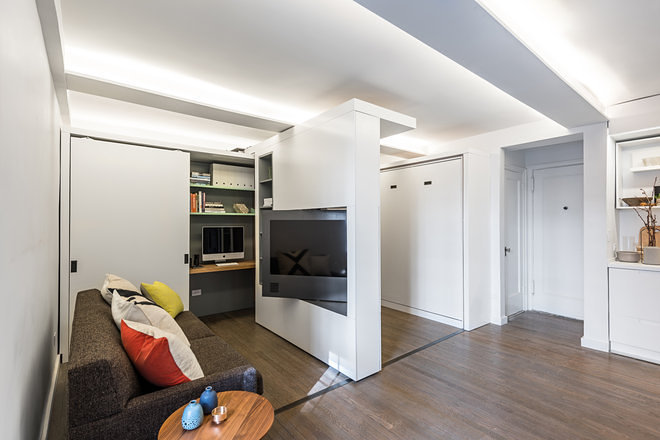 see a 390-square-foot studio morph into 5 different rooms - curbed ny