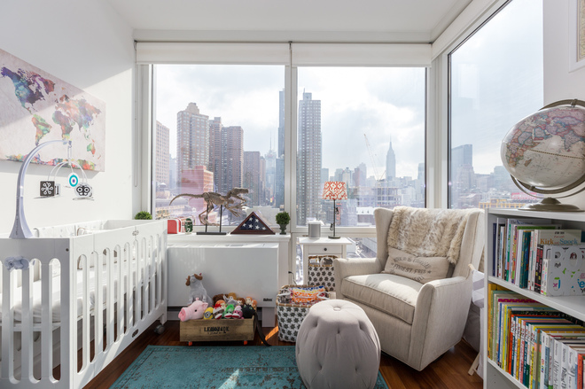 This baby will be  pretty spoiled  with this room  All photos by Max  Touhey. Making Room for a Baby In A  Geek Chic  Apartment   Curbed NY