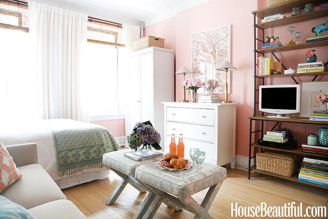 Tilton Fenwick Design Assistant Danielle Armstrong Brings House Beautiful Into Her Miniscule New York Studio Apartment Where Every Available Surface Is
