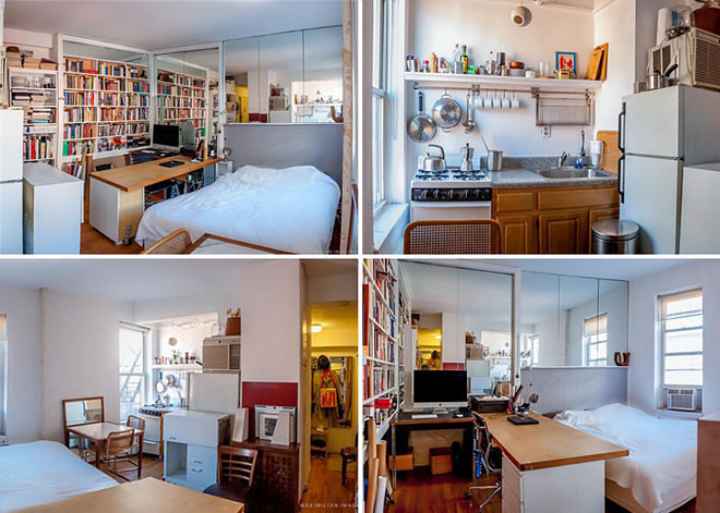 New york city 39 s 14 most famous micro apartments curbed ny for 100 sq ft kitchen designs