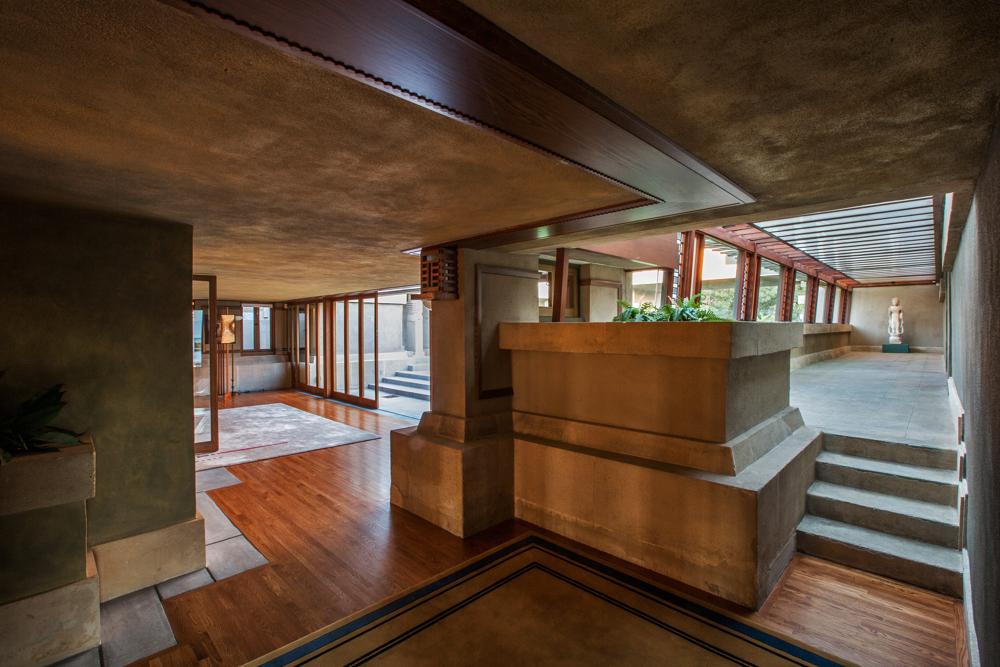 A full tour through Frank Lloyd Wrights first LA house  : 022015HOLLYHOCK2 800 from la.curbed.com size 1000 x 667 jpeg 577kB