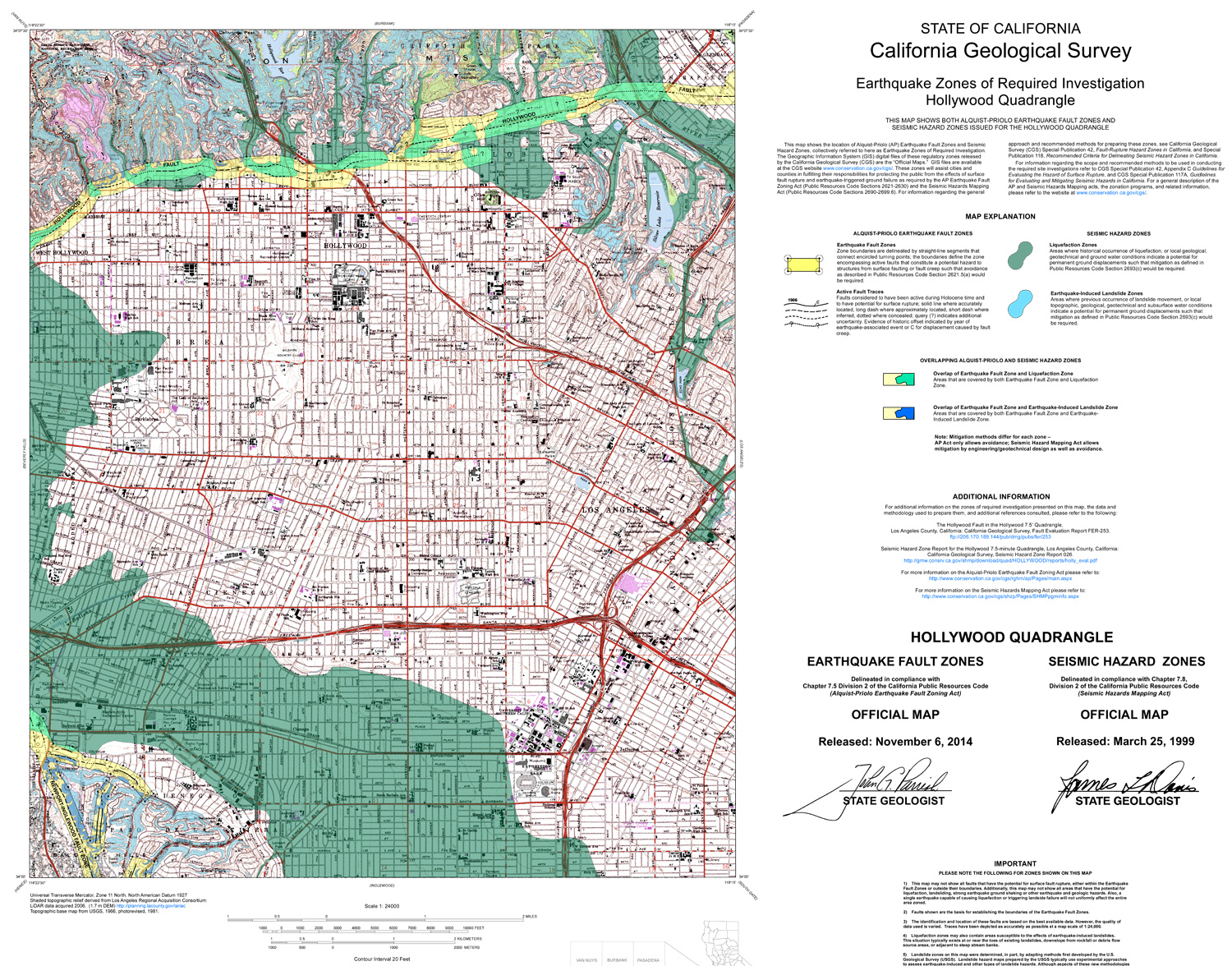 Breaking Here Is The Map Of The Hollywood Fault To Terrify You - Los angeles county line map