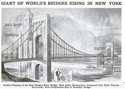 See The George Washington Bridge As Its Designers Intended Curbed Ny
