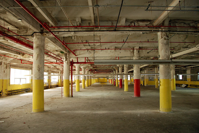 Inside A To Be Converted Long Island City Warehouse