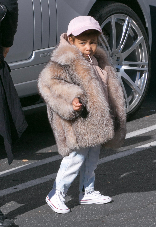 North West's Fur Coat Can't Help But Make Penelope Jealous