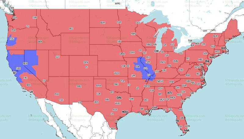St Louis Rams At San Francisco NFL Week 17 Broadcast Map  Turf