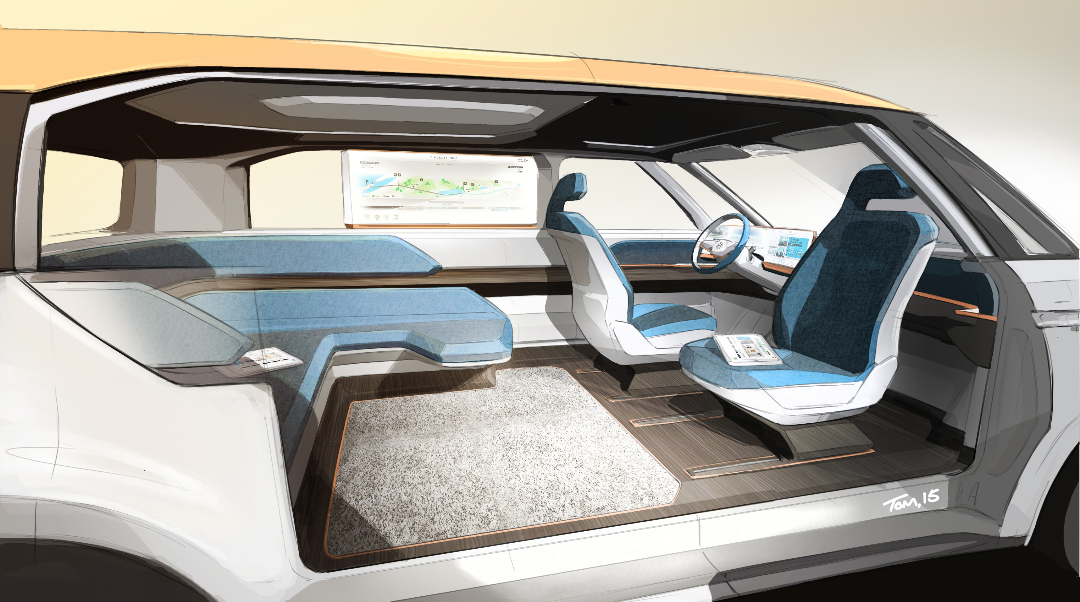 Volkswagen S Electric Bus Concept Is A Groovy Far Out Vision For