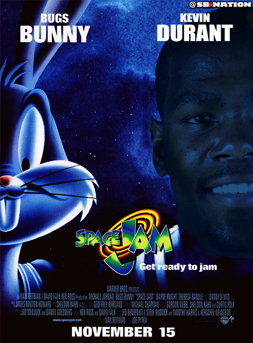 College basketball announcer claims Kevin Durant was in 'Space Jam,' which is extremely not true