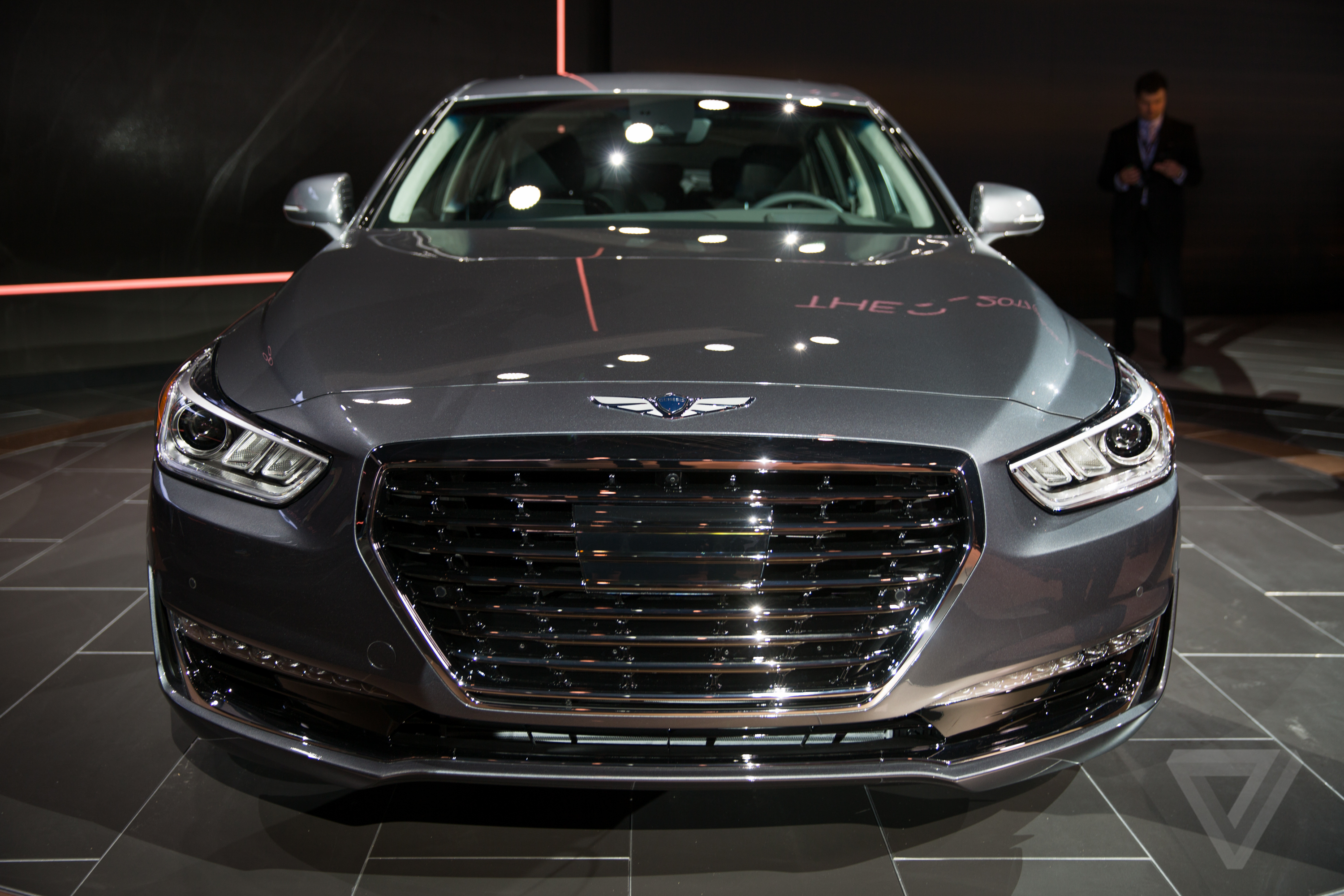 Genesis G90 at the Detroit Auto Show