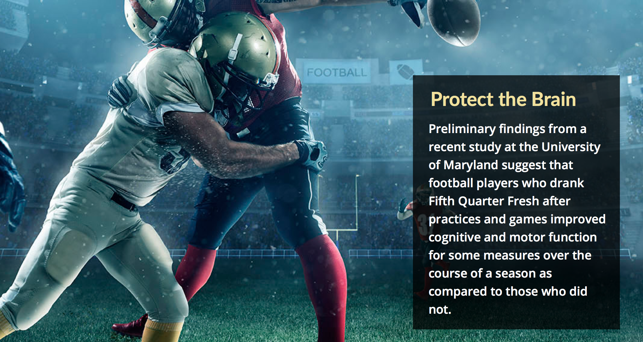 The University of Maryland just released a report on its ...
