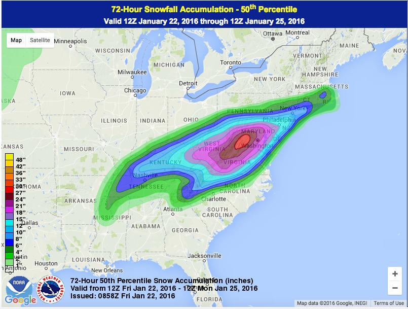 Winter Storm Jonas targets DC New York Boston Heres what we