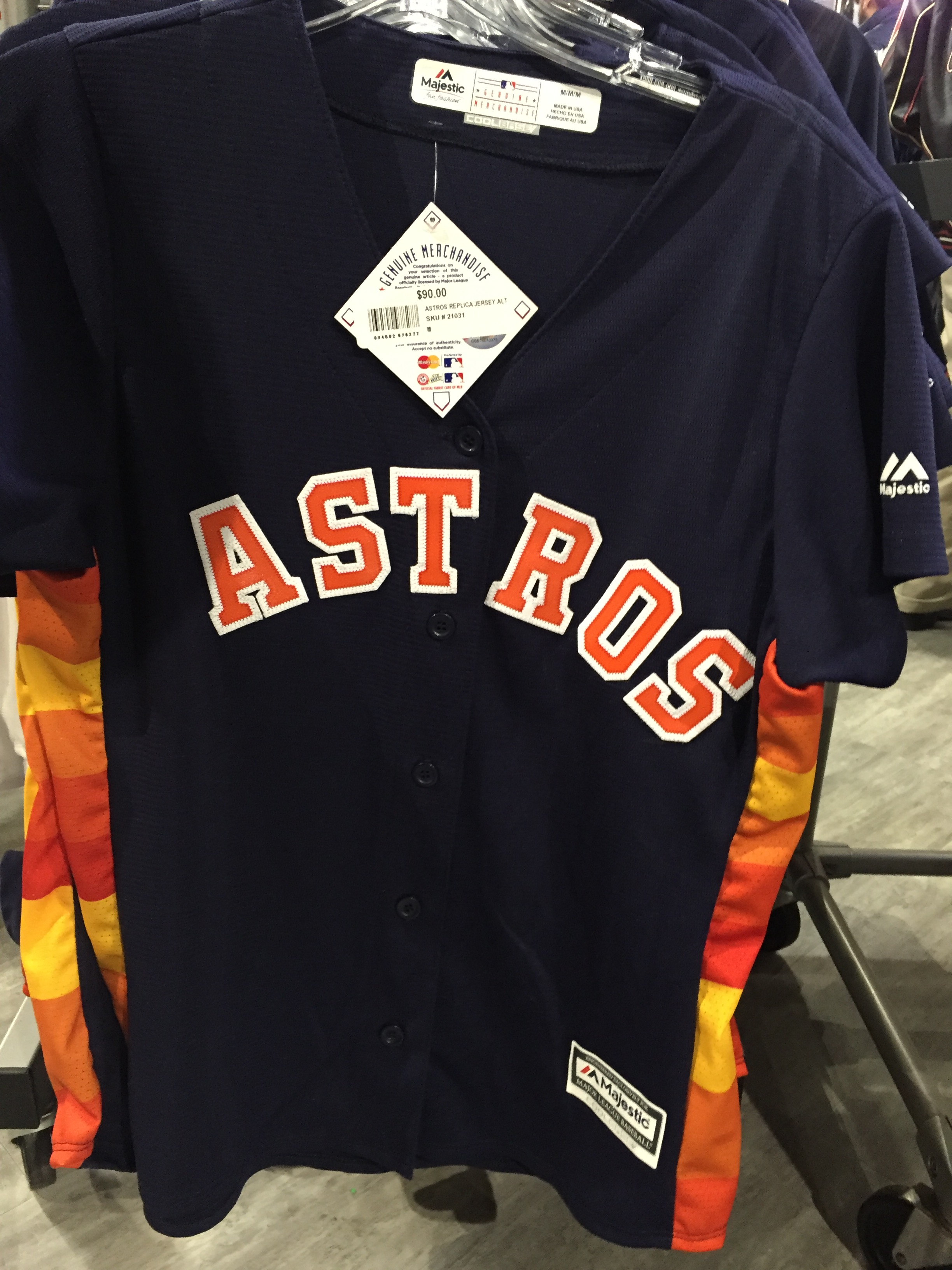 new style ce63b 70f1d free shipping houston astros throwback rainbow jersey 23c9a ...