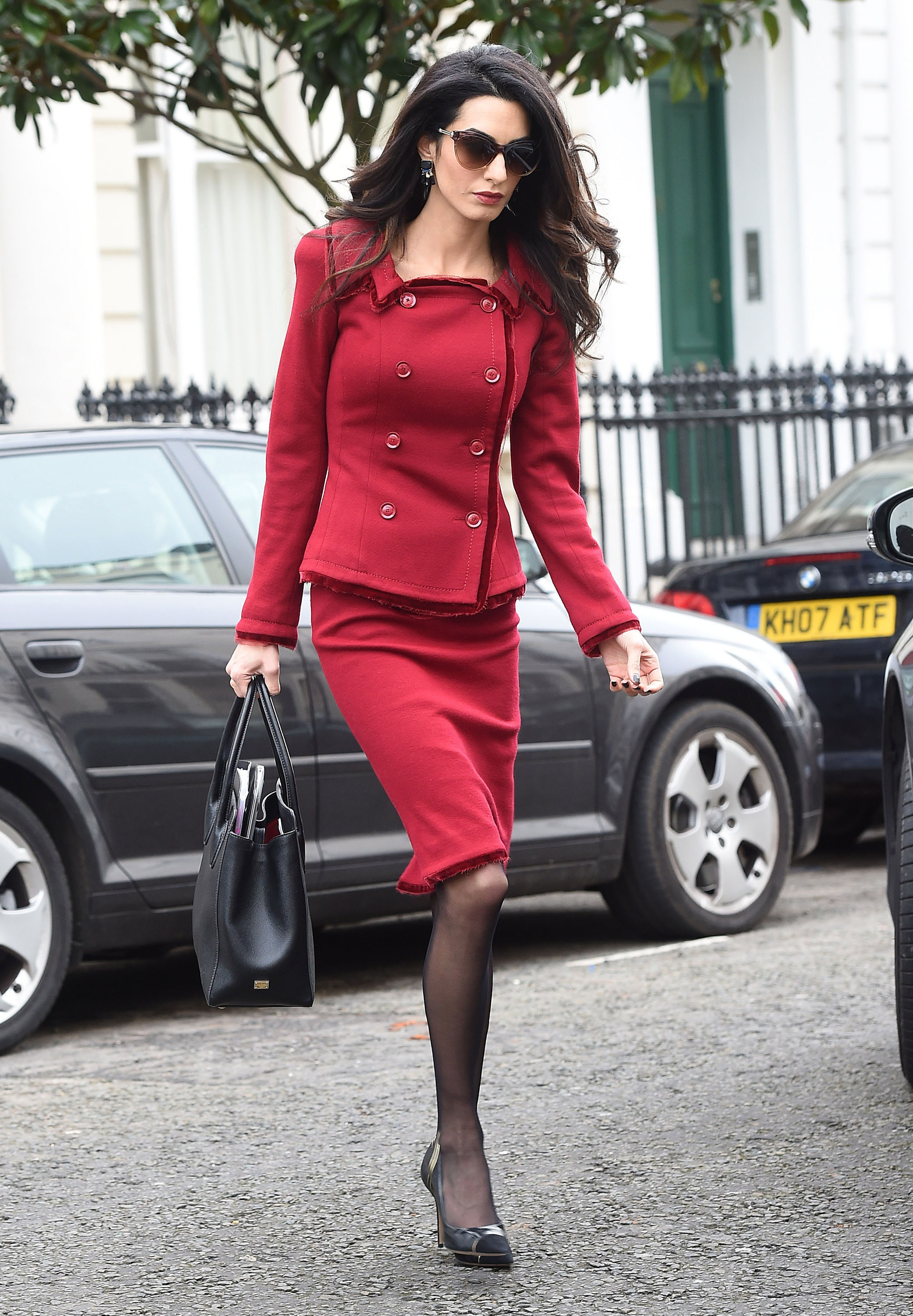 Amal Clooney's Red Power Suit Is Justice Incarnate