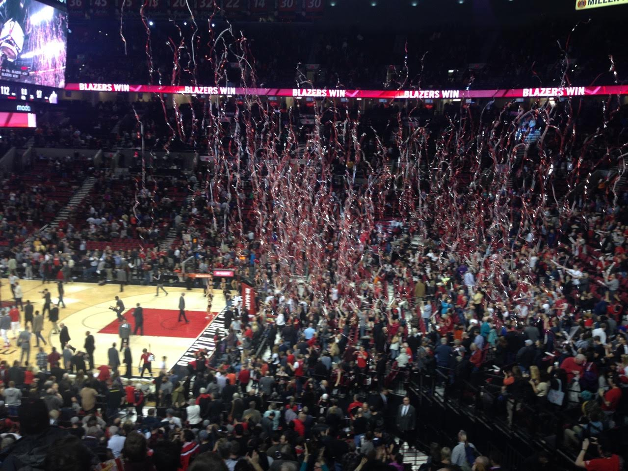 Report from the Moda Center as the Trail Blazers Run Down the ...