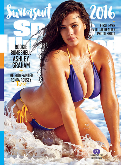 ashley graham first plus-size model to cover sports illustrated