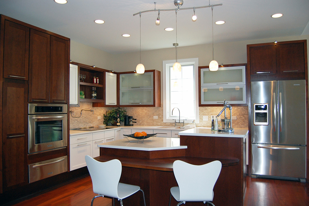 this kitchen includes universal design features like a variety of lighting levels and work areas at different heights  photo courtesy of the idea center  the ada at 25   curbed  rh   curbed com