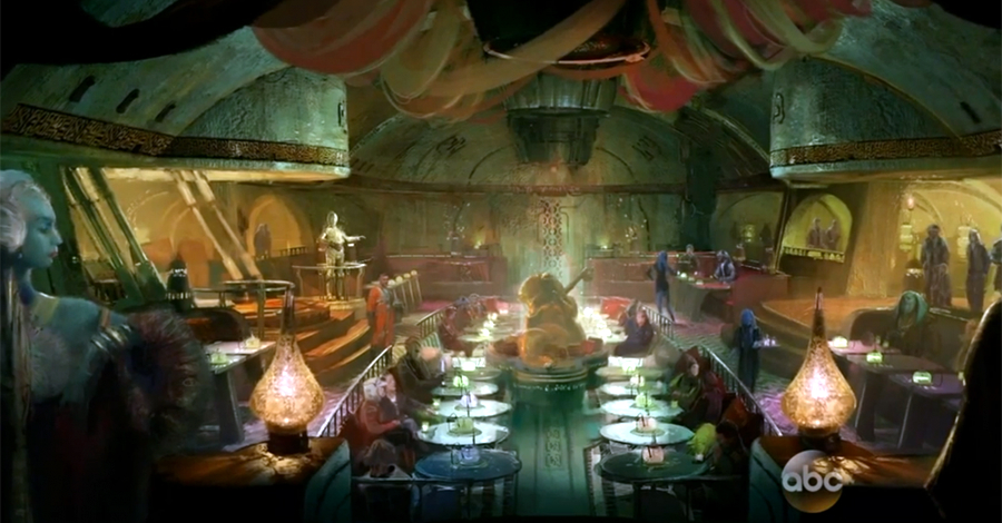 Disney 39 s 39 star wars land 39 will include a mos eisley for Food bar cantina zamet