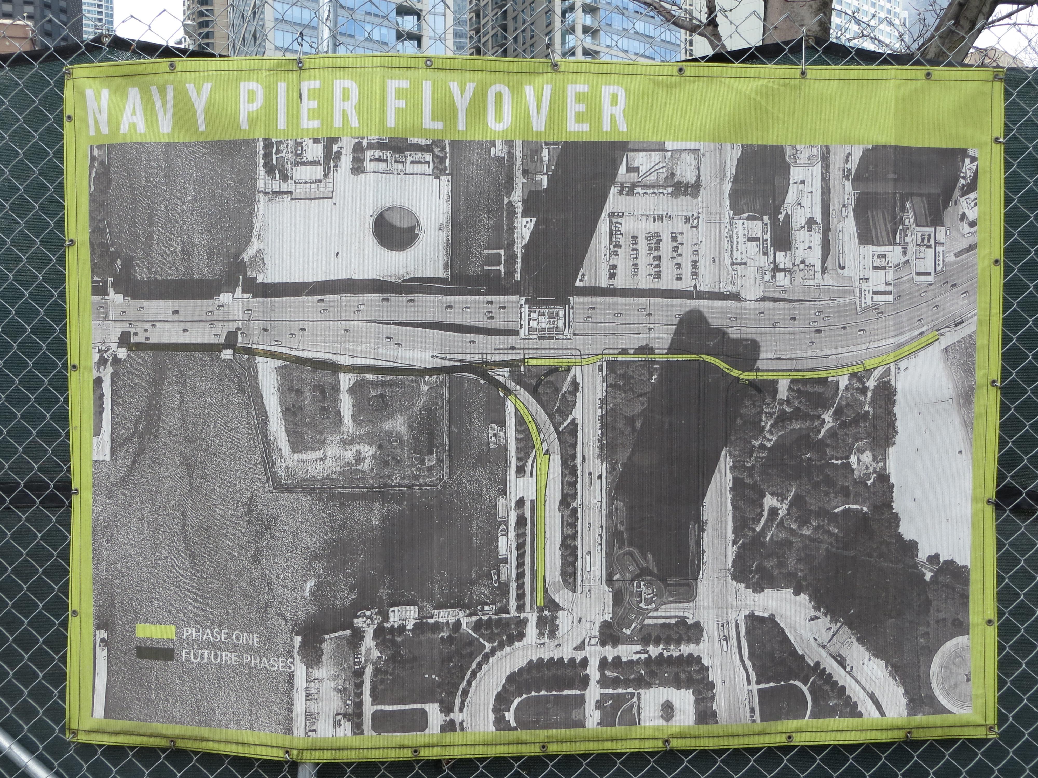 Construction Progressing On Navy Pier Flyover Project