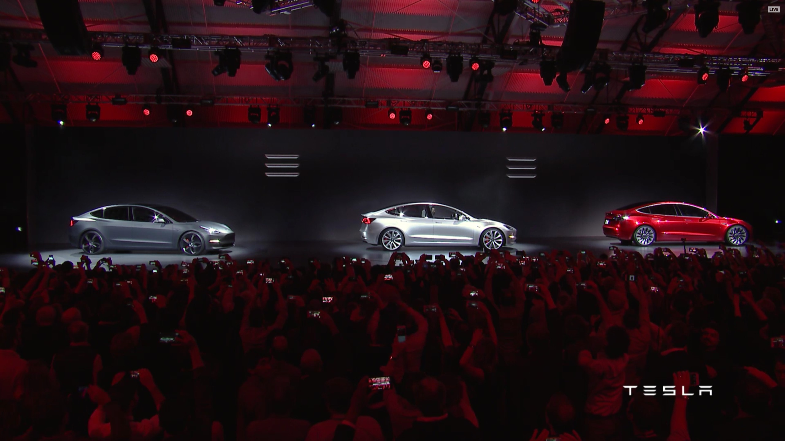 new car launches around the worldTesla Model 3 announced release set for 2017 price starts at