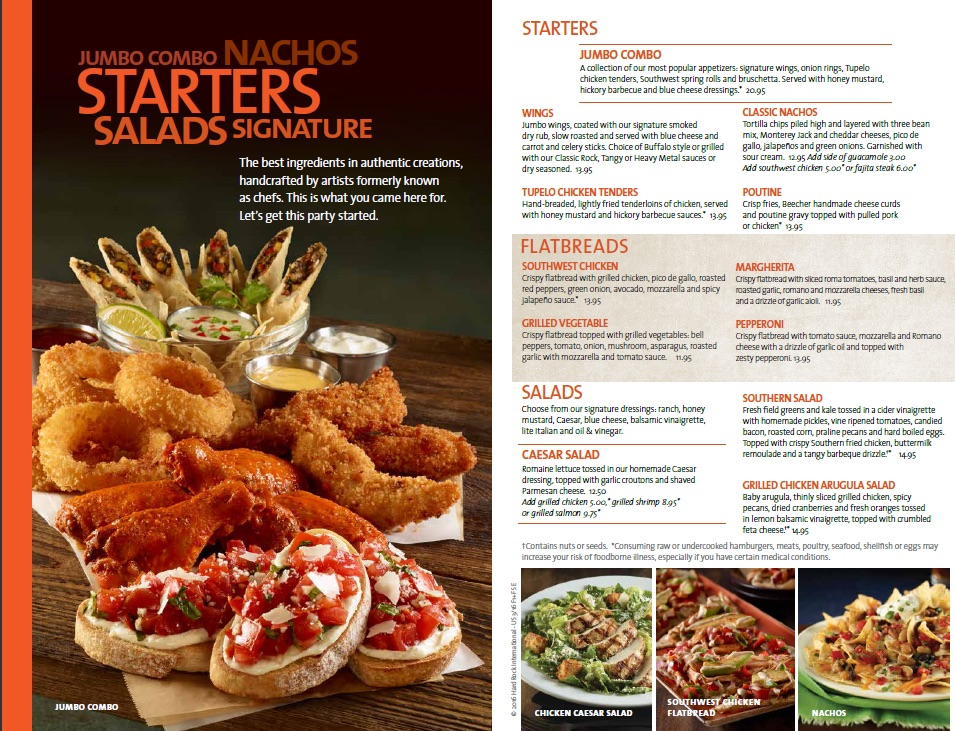 Hard Rock Cafe Menu With Prices London