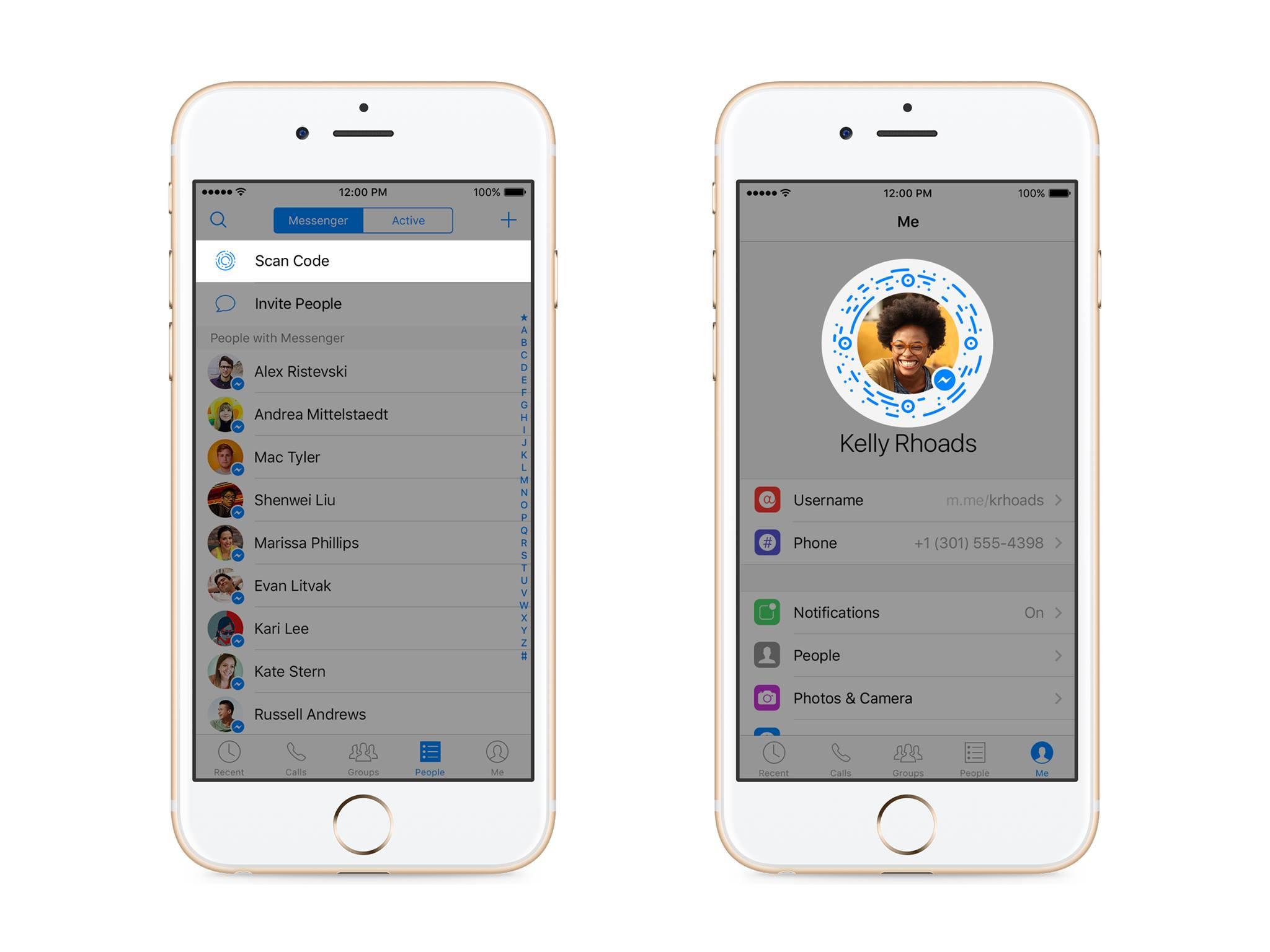 Facebook messenger launches scannable profile codes just like facebook messenger codes news facebook buycottarizona