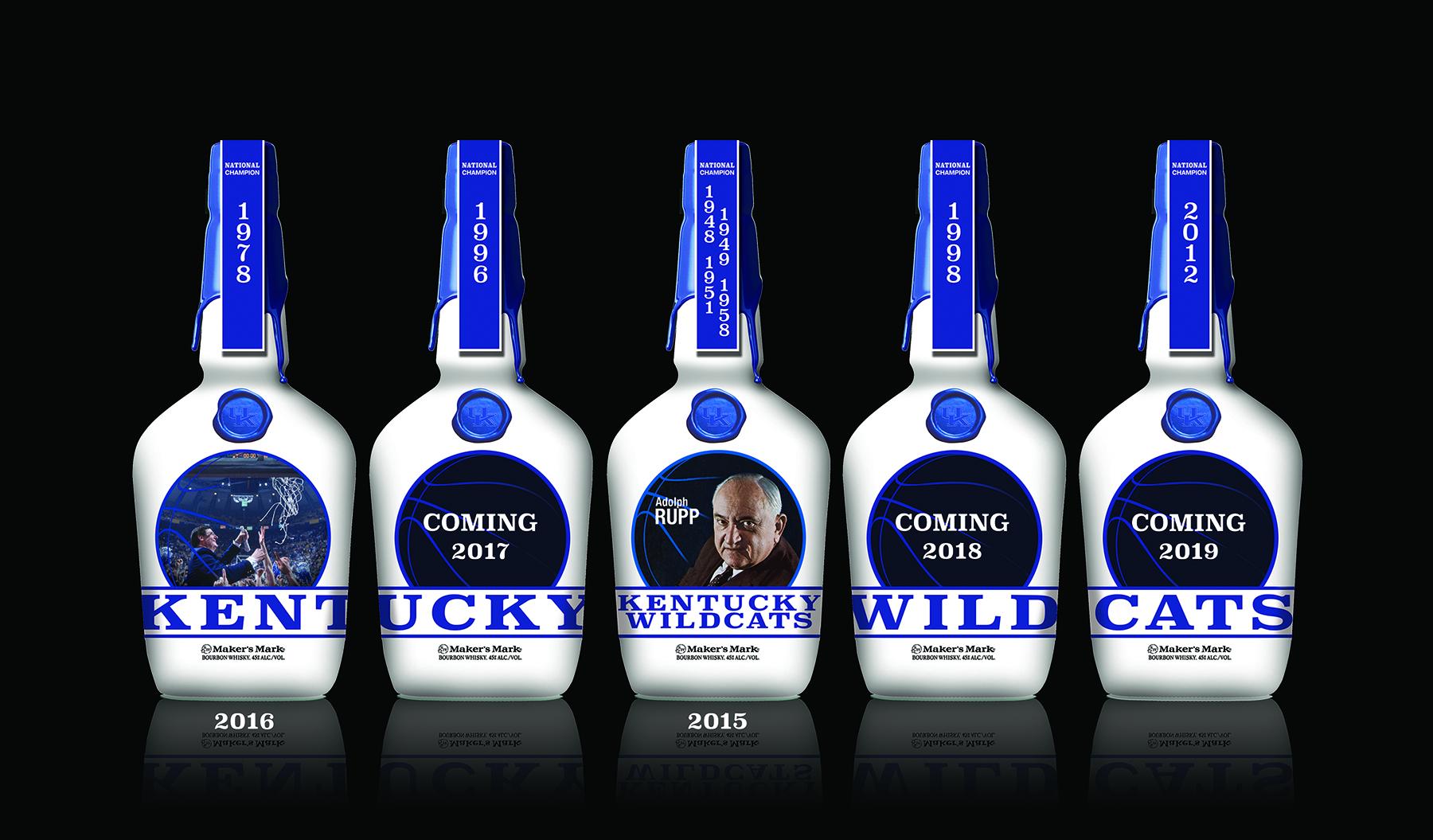 Kentucky Wildcats Makers Mark Commemorative Bottle Release ...