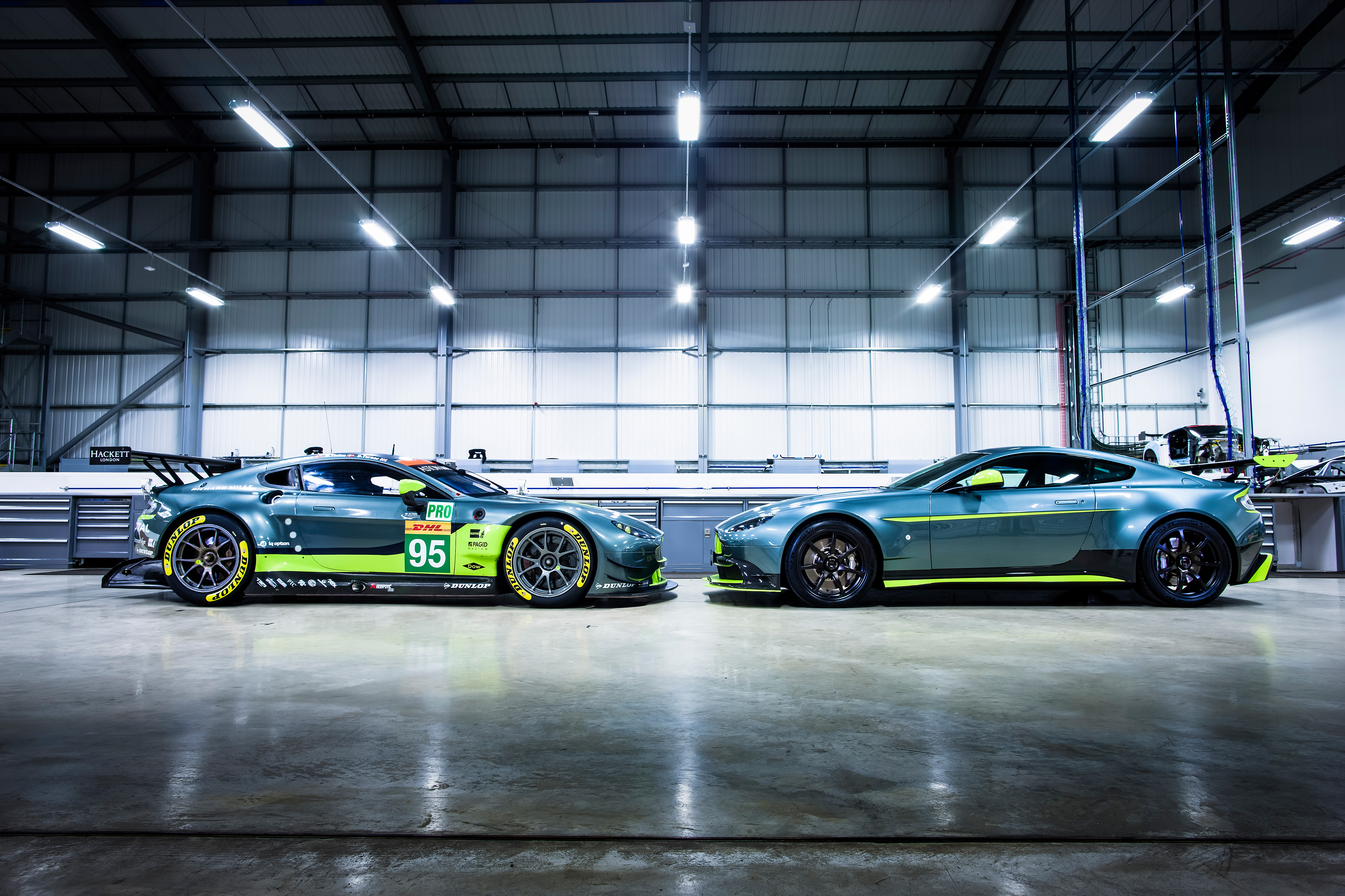 the magnificent aston martin vantage gt8 is a road-legal race car