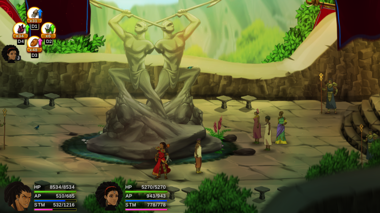Watch five minutes of African action RPG Aurion gameplay