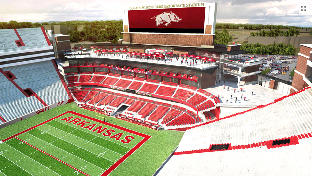 Razorback Stadium Seating Chart amp Map  SeatGeek