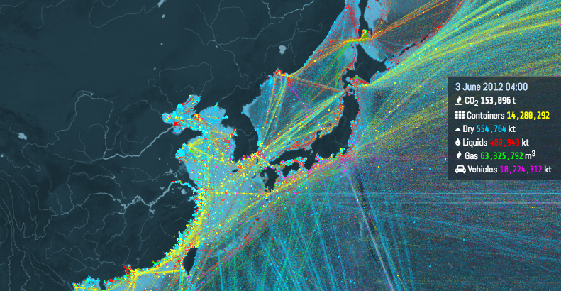This Is An Incredible Visualization Of The Worlds Shipping Routes - 50 incredible maps will change see world